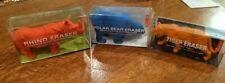 Kikkerland Large Animal Erasers - Red Rhino, Blue Polar Bear, Orange Tiger - Pen