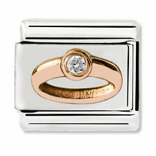 GENUINE Nomination Classic Rose Gold CZ Ring Charm 430305/04 / £45 RRP