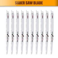 10 x 240mm Reciprocating wood Carbon Sabre Saw Blades R1021L fits Bosch Makita