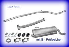 Abgasanlage Auspuff mit Endrohr-Blende Peugeot 206+ 1.1 Typ T3E Fließheck + Kit