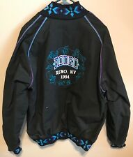 BANDERA OUTFITTERS JACKET BLACK AZTEC BOMBER SIZE XL 1994 RODEO RENO NEVADA