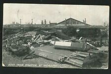 More details for postcard - boat train disaster at salisbury, wiltshire - 1906