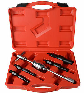 5 PC Inner Pilot Bearing Puller Tool Set Kit Remover Blind Internal Slide Hammer