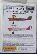 Xtradecal 1/72 X72205 de Havilland Tiger Moth pt 3 decal set - Overseas Users