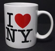 I LOVE NEW YORK ceramic COFFEE MUG CUP white NY tourist souvenir travel EUC