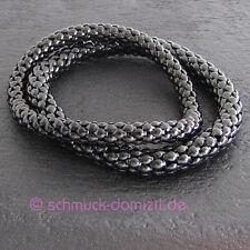 Quoins Armband elastisch - Edelstahl SCHWARZ - ONE SIZE - 6 mm Durchmesser