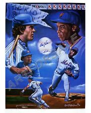 GARY CARTER & DWIGHT GOODEN AUTOGRAPH NY METS 23x287 LITHO ROBERT STEPHEN SIMON