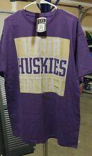 Men's size Large Purple Washington Huskies Short Sleeve Shirt, BRAND NEW
