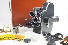 {NMint in Case} BOLEX H16 Rex RX 16mm 25mm 50mm 3Lens Grip Movie Camera From JP