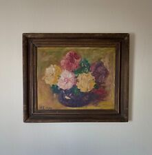 Guan Liang (1900--1986) Chinese Artist Oil Painting Signed
