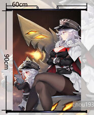 Azur Lane Graf Zeppelin Wall Scroll Home Poster Holiday Gift Cosplay 60*90CM#104