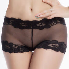 Sheer Lace Underwear Womens Lingerie G-string Panties Knickers Thongs Brief hs