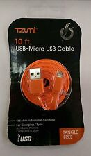 Tzumi 10 Feet Micro USB - USB Cable For Charging/Sync