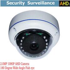 2.0MP 1080P AHD Camera 180 Degree Wide Angle Fisheye Mini Dome IR Security+POWER
