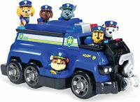 PAW PATROL Total Team Rescue Chase's Team Police Cruiser with 6 Action Figures