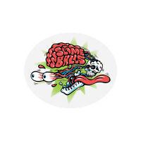 "Slime Balls Santa Cruz Brain Buster Logo Skateboard Sticker Decal 3.5"" Round New"
