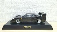 1/64 Kyosho FERRARI F40 GTE BLACK diecast car model
