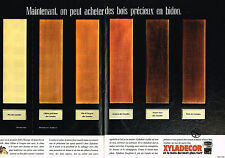 PUBLICITE ADVERTISING 094  1989  XYLADECOR  traitement du bois ( 2 pages)