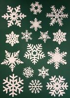 80 Snowflake Window Vinyl Clings Christmas Stickers - Reusable Decorations
