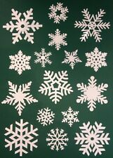 Up to 80 Snowflake Window Vinyl Clings Christmas Stickers - Reusable Decorations