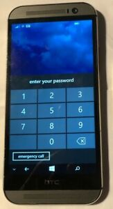[BROKEN] HTC One M8 6995L Gray (Verizon) Smartphone.Fast Ship PIN LOCK