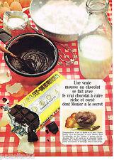 PUBLICITE ADVERTISING 065  1968   MENIER   chocolat à cuire