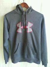 Girls Under Armour Hooded Sweatshirt Size Small 100% Polyester