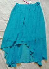 BNWT House Of Fraser Therapy Lined Turquoise Handkerchief Skirt, size 10