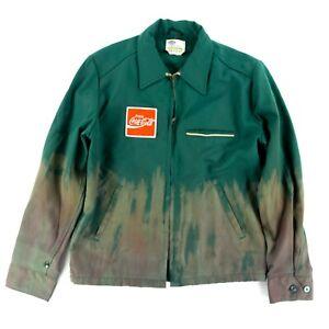 Coca Cola Logo Work Thinsulate Jacket Riverside Masterliner Hand Tie Dye Sz. M