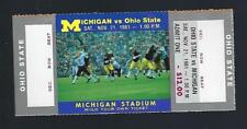 1981 NCAA OHIO STATE BUCKEYES @ MICHIGAN WOLVERINES FULL UNUSED FOOTBALL TICKET