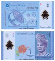Malaysia 1 Ringgit 2012 P-51A Polymer Banknotes UNC