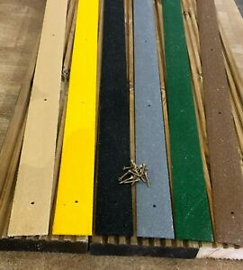 GRP Anti Slip Decking Strips 10 pieces x 600mm Free Drilling and Screws