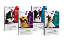 Vectra 3D Spot On for Dogs | Antiparasitaire pour chien | Pipetas Cães Pack 3