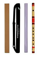 Natural Handmade Medium Bamboo Professional Flutes E Flute Bansuri Size- 15 Inch