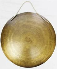 """F612 HUGE ARTISTIC HAND CRAFTED HIMALAYAN TIBETAN TEMPLE GONG 20.5"""""""