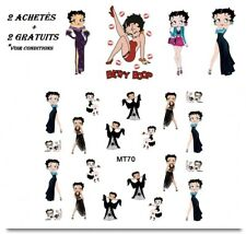 ❤️NOUVEAU STICKERS BETTY BOOP BIJOUX ONGLES WATER DECAL MANUCURE NAIL ART