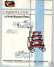 1965 PAPER AD 4 PG Crestline Coaster Wagon Sidewalk Scooter Ranch Corral