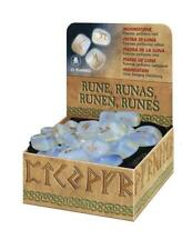 Moonstone Runes Kit with Book, Bag, and 25 Futhark Runes!