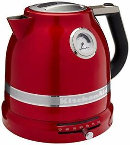 KitchenAid RKEK1522CA Electric Kettle, Candy Apple Red (Certified Refurbished)