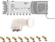 Triax Multischalter 5/8 ( 1 Sat auf 8 TEILNEHMER ) + Quattro LNB Triax F-Stecker