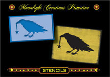 """Primitive Stencil-RAGGEDY OLD CROW AND STAR~LARGE SIZE~6"""" H x10"""" W"""