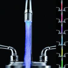Mode Neu 7 Farben Farbwechsel Wasser Wasserhahn Armatur Aufsatz LED Licht  hahn