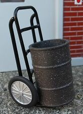 Industrial Drum Dolly Diecast w Weathered Drum 1/24 Scale G Scale Diorama Items