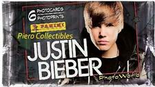 Justin Bieber Photo Cards Bustina Panini