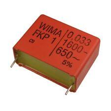 Wima fkp1 polipropileno diapositivas-condensador FKP 1 1600v 0,033uf 5% 27,5mm 024084