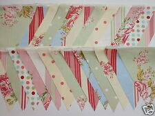 VINTAGE FLORAL STYLE FABRIC WEDDING BUNTING DECORATION12.5M