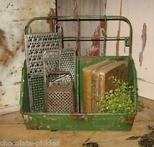 Farmhouse Metal BIN BASKET BOX*Kitchen/Laundry/Mail Organizer*Primitive Decor