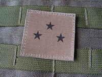 Trenza - General de Division (3 Estrellas) Baja Vis - Grado Caqui Od