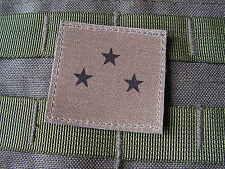 Galon - GENERAL de DIVISION (3 étoiles)  BASSE VISIBILITE - grade kaki OD