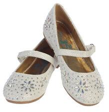 New Baby Toddler Girls Dress Glitter Shoes Rhinestones Kids Flats Wedding Flower
